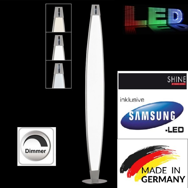 Honsel 40051 Led Standleuchte dimmbar Stehleuchte Stehlampe