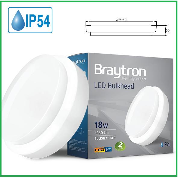 LED IP54 18W Rund Wandleuchte Deckenleuchte Deckenlampe Wasserdicht Bulkhead