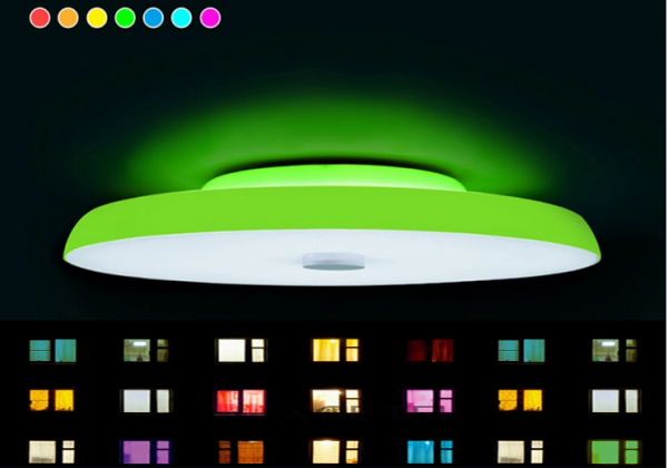Bluetooth Lautsprecher LED Musik Deckenleuchte Deckenlampe RGB Dimmbar Ip44
