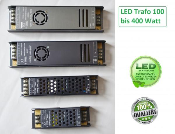 LED Trafo IP20 Netzteil Driver Treiber Transformator DC 12V 100-400 Watt