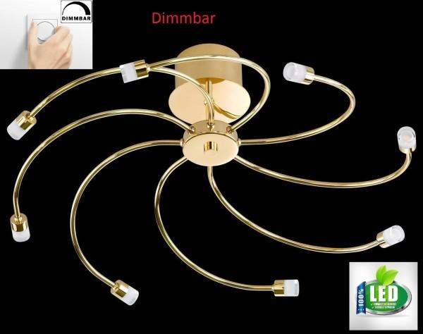 Honsel 21948 Vento LED Deckenleuchte deckenlampe Dimmbar Dimmer chrom acryl