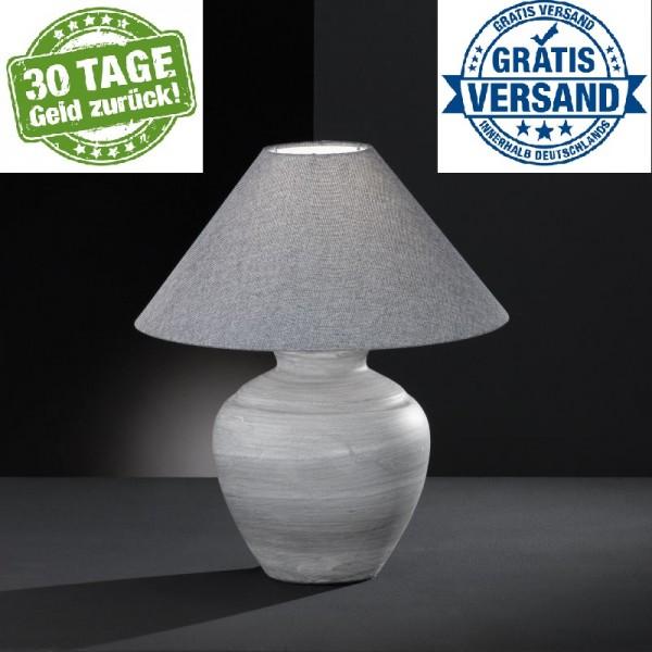 Honsel 54221 Tischleuchte Lampenfuß Tischlampe Nachttischleuchte E27 grau