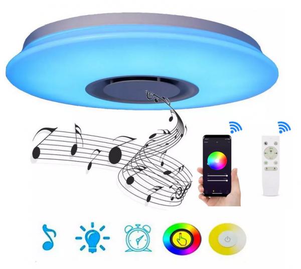 Bluetooth Lautsprecher LED Musik Deckenleuchte RGB Dimmbar mit fernbedienung