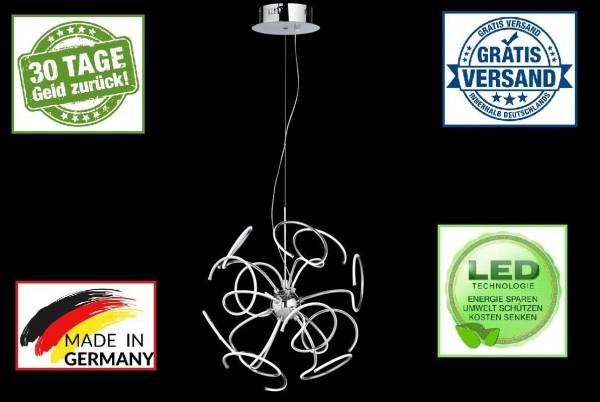 Honsel 69541 LED Straw Deckenleuchte chrom Acrylglas Pendelleuchte Spirale