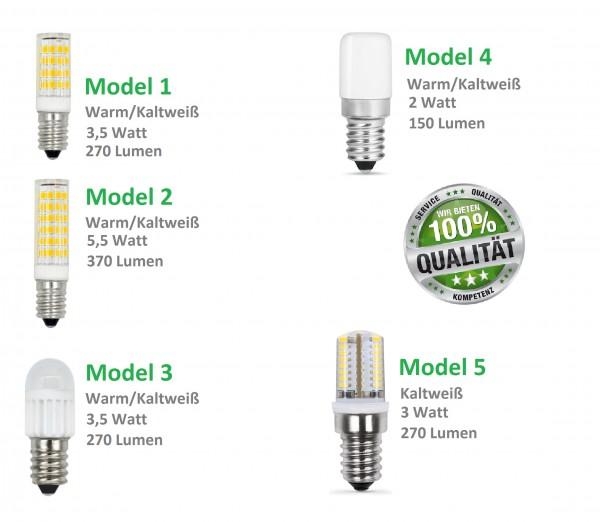E14 Mini LED Kühlschranklampe Leuchtmittel Glühbirne SMD Kaltweiß Warmweiß Birne