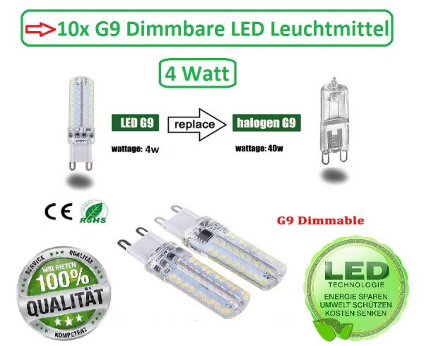 10x LED G9 SMD Dimmbar Stiftsockel Leuchtmittel Birne Lampe warmweiß