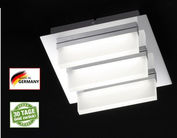 Honsel 21494 Sporto Deckenlampe LED Deckenleuchte chrom Acryl Satiniert 4W