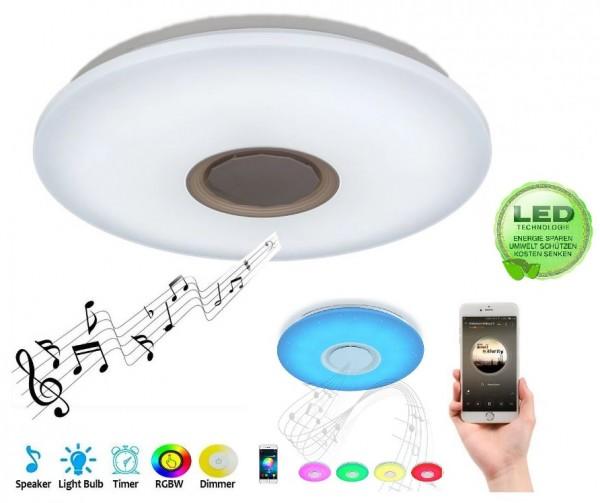 Bluetooth Lautsprecher LED Musik Deckenleuchte RGB Dimmbar smart Leuchte Lampe