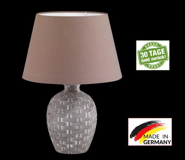Honsel 56071 Cage Tischleuchte Büro Leuchte Lampe weiß cappuccino Keramik E27