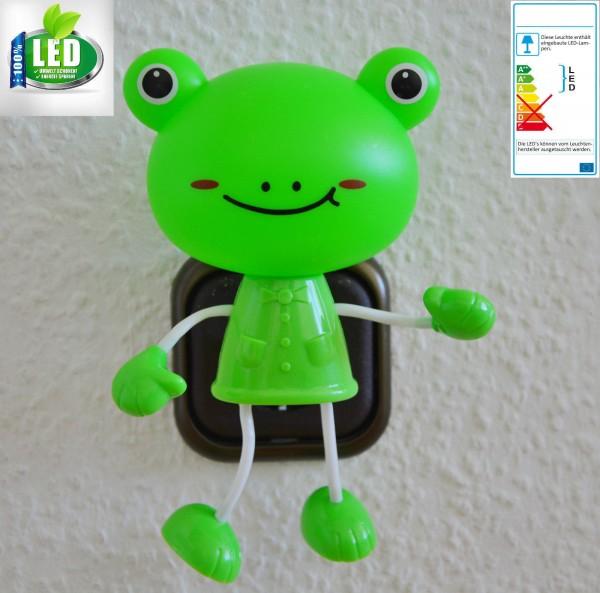 LED SteckdosenLampe Nachtlicht Steckdose beleuchtung Kinder Spielzeug Dämmerung Frosch