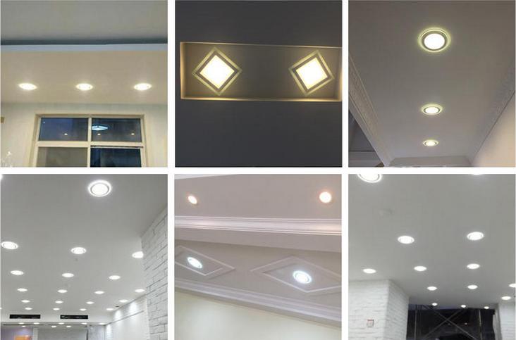 Häufig LED Panel Glas Einbaustrahler Deckenleuchte Einbau Beleuchtung BB27
