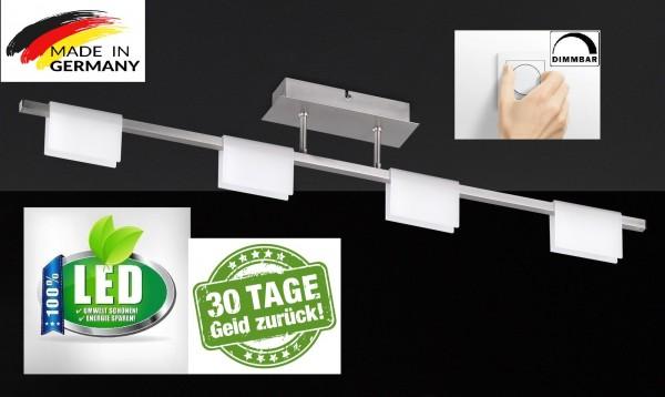 Honsel 21254 Lienzo LED Deckenleuchte Dimmbar leuchte lampe Matt Nickel lang