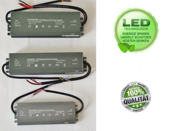LED Trafo IP67 Wasserdicht Netzteil Treiber Transformator 12V 100-300 Dünn Slim
