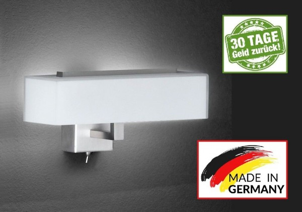 Honsel 39091 Freja SMD LED Wandleuchte Lampe Büro Leuchte Schalter IP20 Glas R