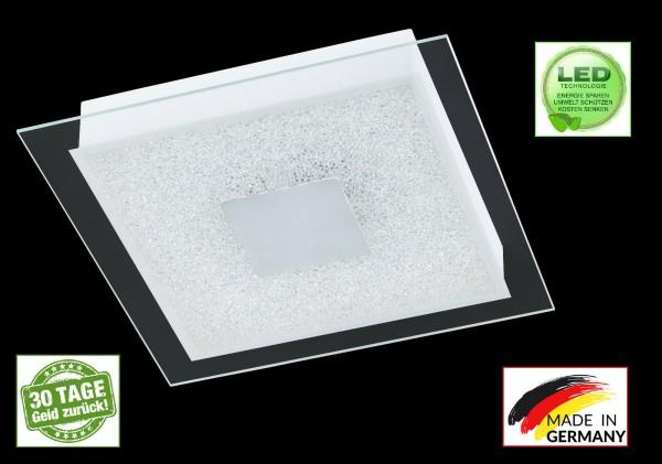 Honsel 23041 Spark LED Deckenleuchte Lampe weiß acryl glas klar Leuchte eckig