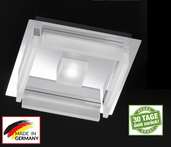 Honsel 21525 LED Sporto Deckenleuchte chrom Acrylglas Leuchte Lampe