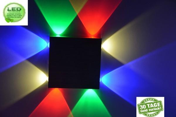 LED Wandleuchte Wandlampe Flurlampe Deckenlicht Strahler mit Farbe farben