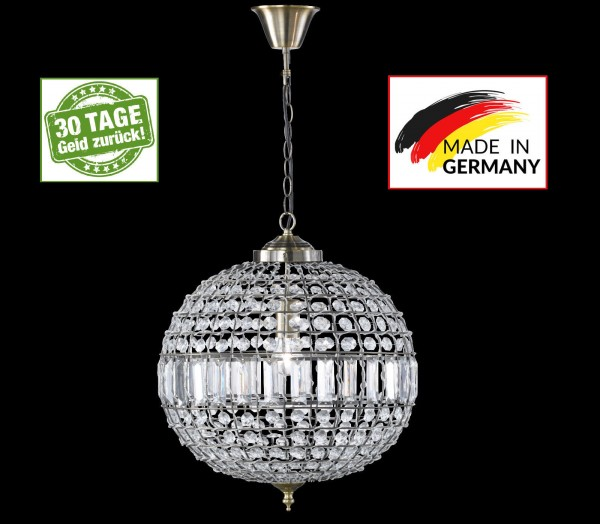 Honsel 67691 Salin Leuchten Pendelleuchte Kronleuchter Wohnzimmer Glas Antik E27