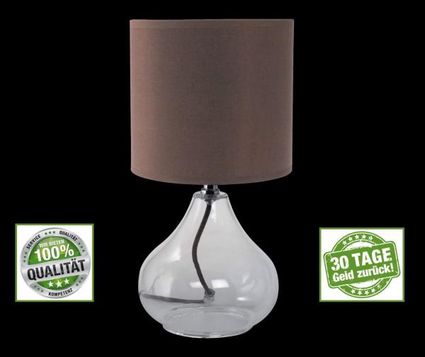 Honsel 59265 Vetro Tischleuchte Büro Leuchte Lese Lampe Transparent Design E14