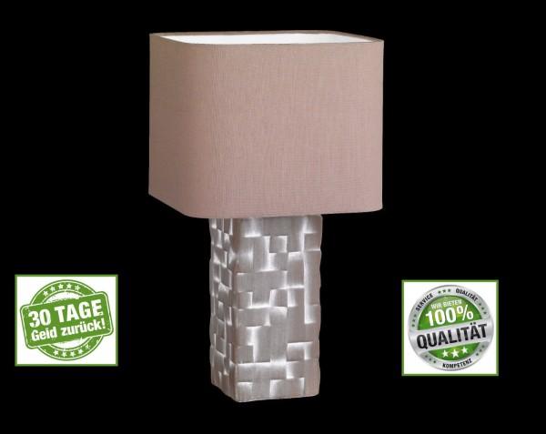Honsel 56111 Mesh Tischleuchte Büro Leuchte Lese Lampe cappuccino Design E27