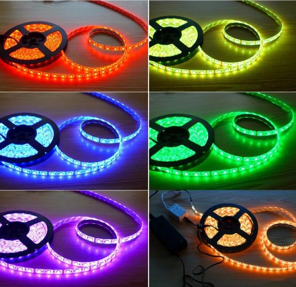 LED Stripe RGB Leiste Streife 5050SMD Band Lichter Licht Leuchte Lichterkette 5M