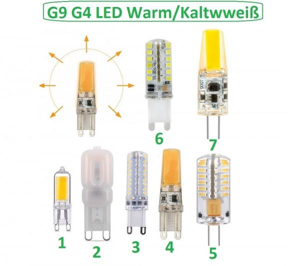 G9 G4 LED Leuchtmittel Glühbirne SMD Kaltweiß Warmweiß Birne COB Lampe aus DE