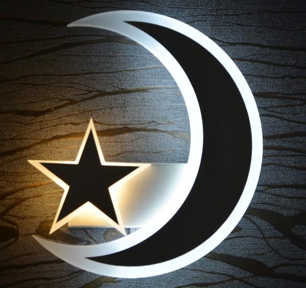 LED Mond Sterne Wandleuchte Wandlampe Leuchte Lampe Nachtlich Design