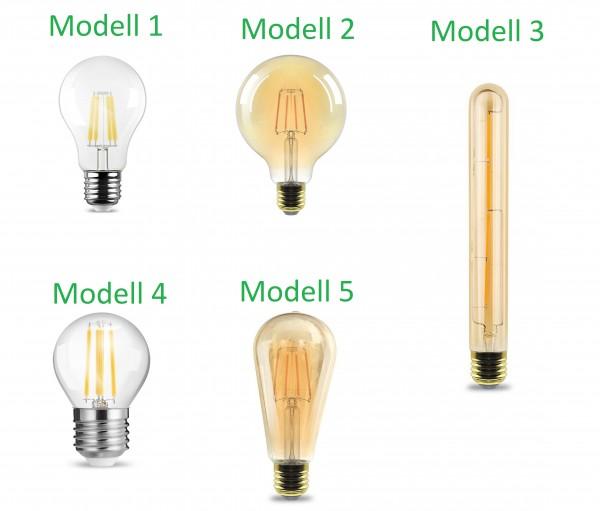 E27 LED COB Filament Leuchtmittel Glühbirne Lampe Birne leuchte 4/6W Globo Kerze