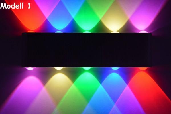 LED Design Wandleuchte Farben bar Leuchte Lampe Neu Ambiente Licht blau rot LED
