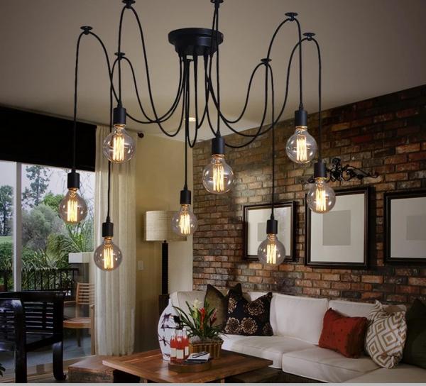 Industrie Vintage Lampe Retro Deckenlampe Pendelleuchte Kronleuchter Edison