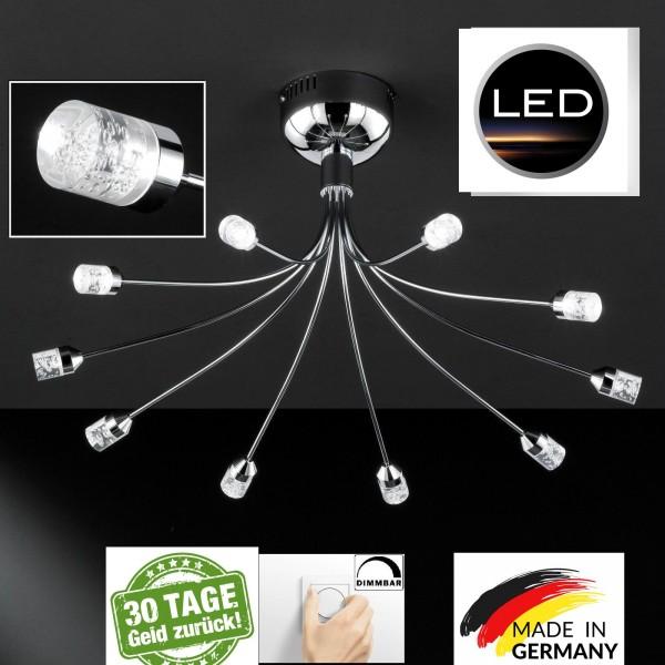 Honsel 22210 Trendy LED Deckenleuchte leuchte lampe Dimmbar Dimmer chrom acryl