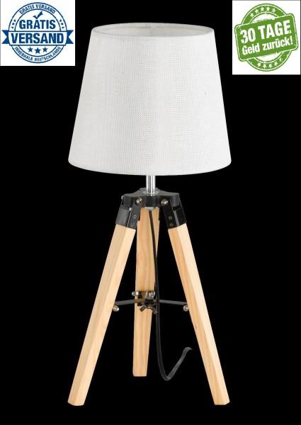 Honsel 59237 Stage Tischleuchte Büro Leuchte Lese Lampe weiß Holz Design E27