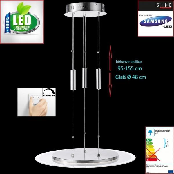 LED fischer shine 215491 Deckenleuchte Pendelleuchte Pendellampe dimmbar Honsel R