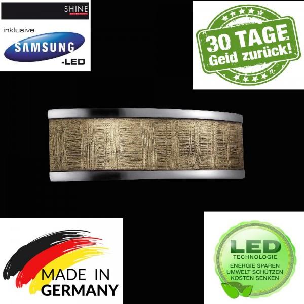 Fischer 18622 Led Wandleuchte SHINE ALU Aluminium, satiniert, LED 2-flammig Wandlampe Leuchte La
