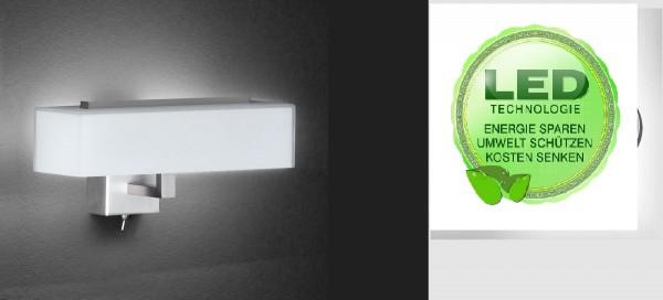 Honsel 39091 Freja SMD LED Wandleuchte Lampe Büro Leuchte Schalter IP20 Glas