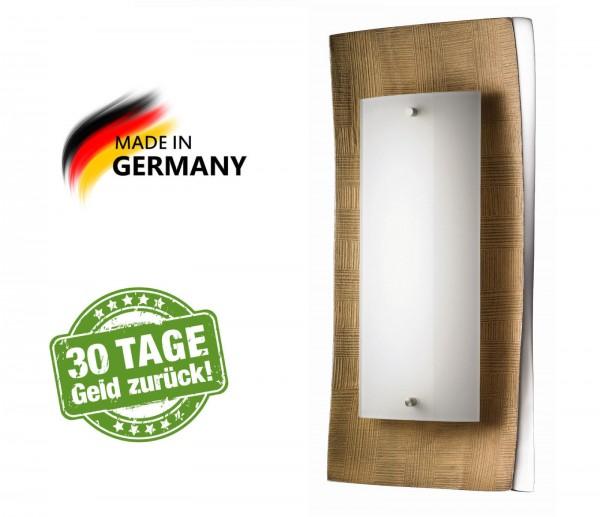 Fischer Shine 51511 Wandlampe Wandleuchte ALU Aluminium goldfarben Opal LED