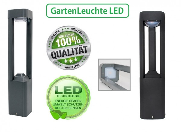 LED Standleuchte Außenleuchte Gartenleuchte Wegleuchte Lampe IP54